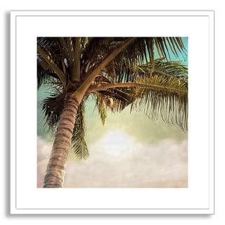 Gallery Direct Sundarananda's 'Vintage Palm Tree II' Framed Paper Art