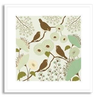 Gallery Direct Rouz's 'Birdsong III' Framed Paper Art