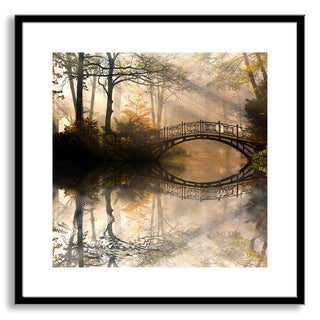 Gallery Direct Gorilla's 'Bridge Reflection' Framed Paper Art