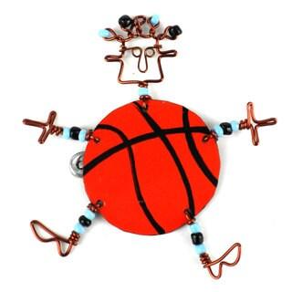 Handmade Dancing Girl Basketball Pin (Kenya)