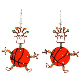 Dancing Girl Basketball Earrings (Kenya)