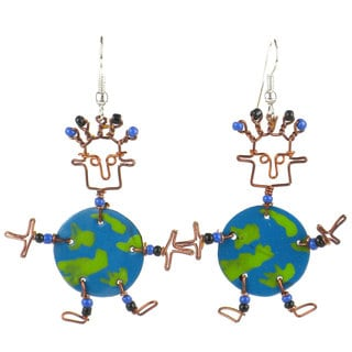 Handmade Dancing Girl World Earrings (Kenya)