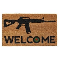Bullseye Welcome Coir with Vinyl Backing Doormat (1'5 X 2'5)