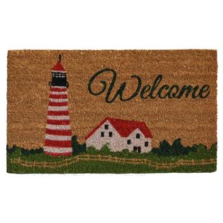 Harbor Welcome Coir with Vinyl Backing Doormat (1'5 X 2'5)
