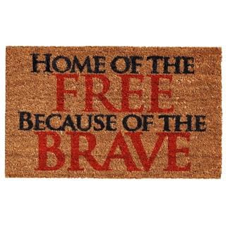 Home of the Free Coir with Vinyl Backing Doormat (1'5 X 2'5)