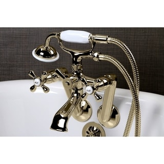 Tub Wall Mount Polished Brass Clawfoot Tub Faucet
