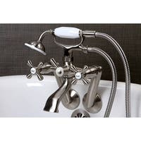 Tub Wall Mount Satin Nickel Clawfoot Tub Faucet