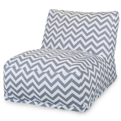 Majestic Home Goods Indoor Outdoor Chevron Bean Bag Chair Lounger 36 in L x 27 in W x 24 in H