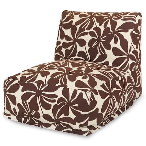 Majestic Home Goods Indoor Outdoor Plantation Bean Bag Chair Lounger 36 in L x 27 in W x 24 in H