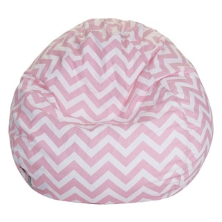 Majestic Home Goods Chevron Cotton Classic Bean Bag Chair Small/Large