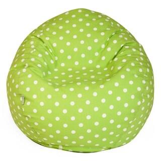 Majestic Home Goods Polka Dot Small Classic Bean Bag (Option: Lime)