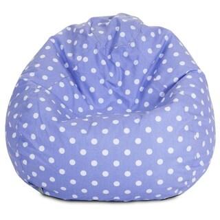 Majestic Home Goods Polka Dot Small Classic Bean Bag (Option: Lavender)