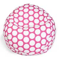 Majestic Home Goods Large Polka Dot Small Classic Bean Bag