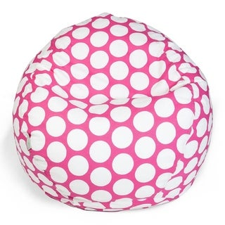 Majestic Home Goods Large Polka Dot Classic Bean Bag Chair Small/Large