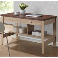 Baxton Studio Fillmore Sonoma Oak Finishing Modern Writing Desk
