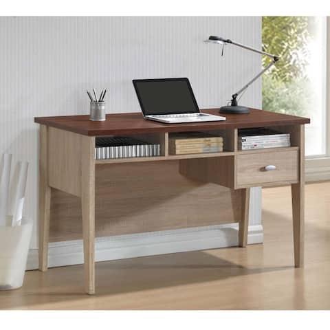 Baxton Studio Tyler Sonoma Oak Finishing Modern Writing Desk