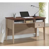 Baxton Studio Tyler Sonoma Oak Finishing Modern Writing Desk