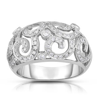 Eloquence 14k White Gold 1/2ct TDW Vintage Style Fashion Diamond Band (H-I, I1-I2)