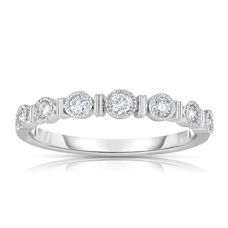 Eloquence 14k White Gold 1/4ct TDW Bezel-set Diamond Band (H-I, I2-I3)