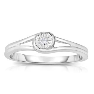 Eloquence 10k White Gold Solitaire Diamond Accent Promise Ring