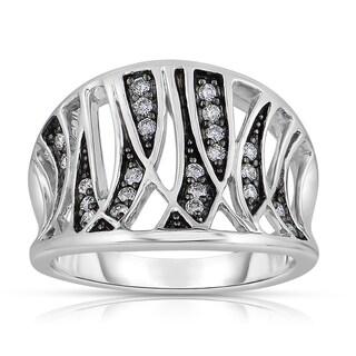 Eloquence 14k Black Rhodium White Gold 1/4ct TDW Fashion Diamond Band