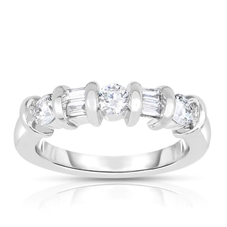 Eloquence 14k White Gold 3/4ct TDW Channel Set Diamond Band (H-I, I1-I2)