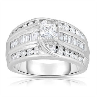 Eloquence 14k White Gold 1 1/2ct TDW Princess-cut Diamond Ring