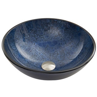 VIGO Indigo Eclipse Glass Vessel Sink