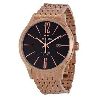 TW Steel Men's 'Slimline' Rose Gold Tone Stainless Steel TW1308 Watch