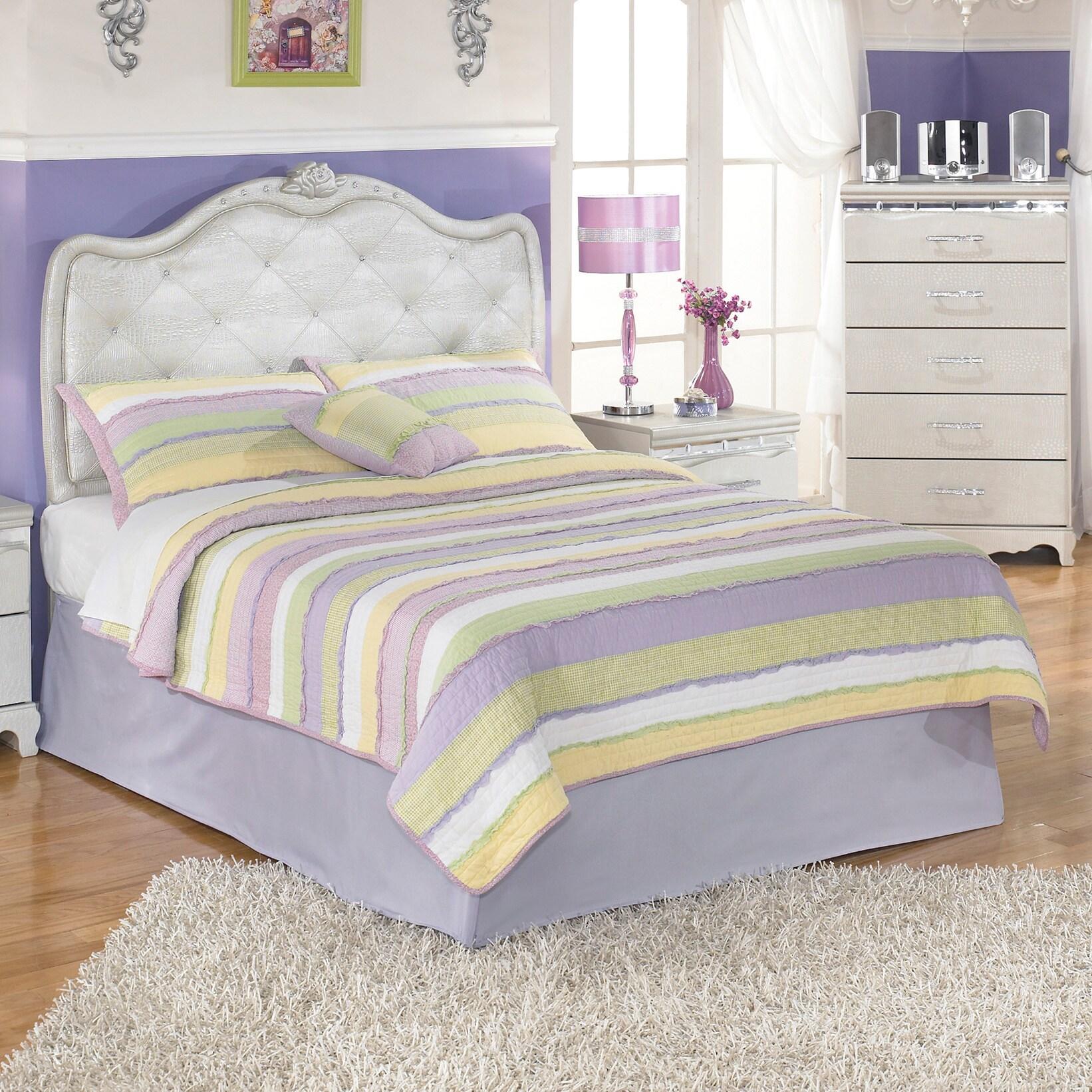 Ashley Zarollina Silver Youth Upholstered Bed (Twin Uphol...