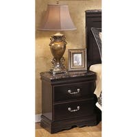Signature Design by Ashley Dark Merlot Esmarelda Nightstand