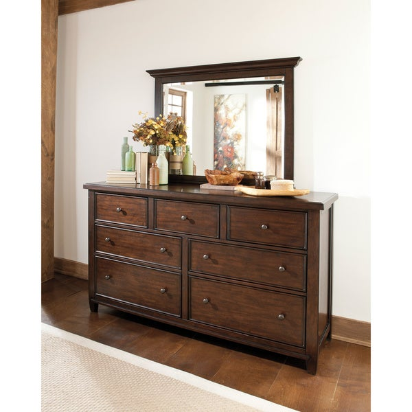 Signature Design By Ashley Hindell Park Dresser And Mirror Free Shipping Today Overstock Com