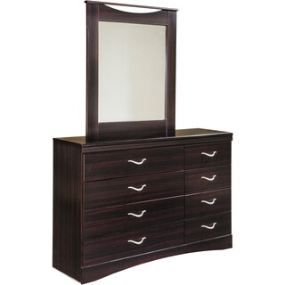 Signature Design by Ashley Zanbury Merlot 2-piece Dresser and Mirror