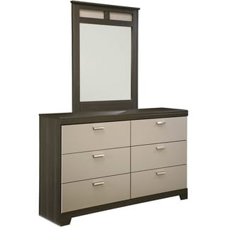 Signature Design by Ashley Wellatown Grey 2-piece Dresser and Mirror