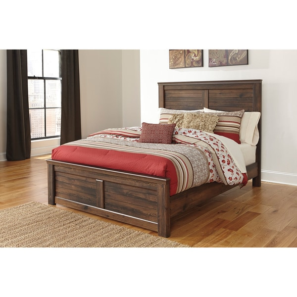 signature design by ashley quinden dark brown panel bed - Ashley Bed Frame