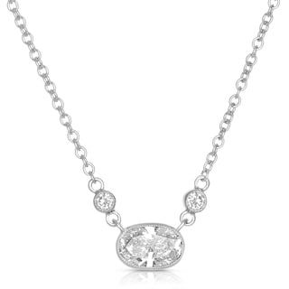 Eloquence 18k White Gold 5/8ct TDW White Diamond Necklace (H-I, SI1-SI2)
