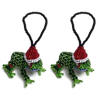 Glass Bead Fair Trade Ornaments (Set of Two)