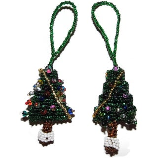 Handmade Glass Bead Fair Trade Ornaments (Set of Two) (Guatemala) (Option: Tree)