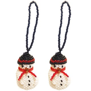 Handmade Glass Bead Fair Trade Ornaments (Set of Two) (Guatemala)