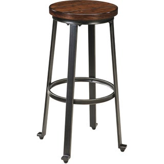 Signature Design by Ashley Challiman Rustic Brown High Stool (Set of 2)