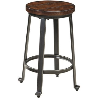 Signature Design by Ashley Challiman Rustic Brown Low Stool (Set of 2)
