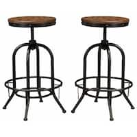 Signature Design by Ashley Pinnadel Light Brown Tall Swivel Barstool (Set of 2)