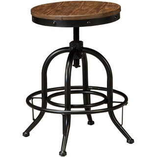 Signature Design by Ashley Pinnadel Swivel Barstool (Set of 2)