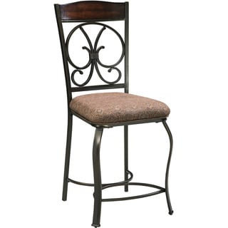 Signature Design by Ashley Glambrey Brown Upholstered Barstool (Set of 4)
