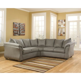 Signature Design by Ashley Darcy 2-Piece Cobblestone Loveseat Sectional