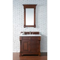 "Brookfield 36"" Single Cabinet w/ Drawers, Warm Cherry"