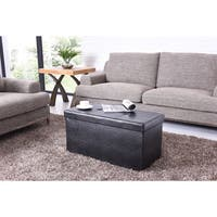 Hodedah Rectanglar Shaped Storage Ottoman