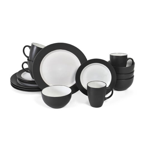 Pfaltzgraff Everyday 16-piece Dark Grey Dinnerware Set