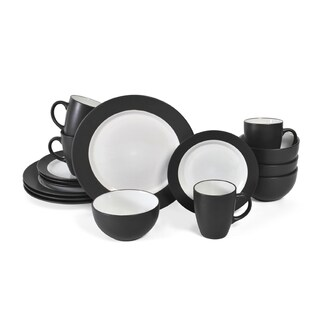 Pfaltzgraff Everyday 16-piece Dark Grey Dinnerware Set  sc 1 st  Overstock & Pfaltzgraff Everyday Harmony Taupe Stoneware 16-piece Dinnerware Set ...