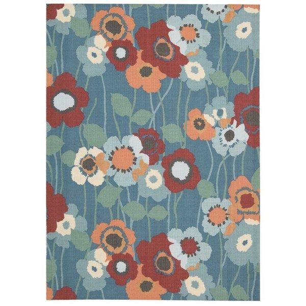 Waverly Sun N' Shade Bluebell Indoor/ Outdoor Rug by Nourison